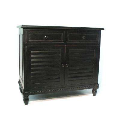 Antique Black Stockholm cabinet