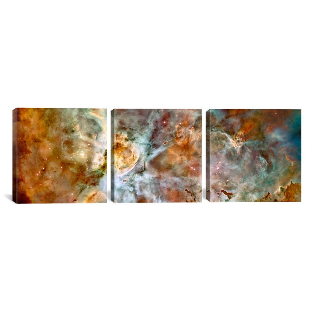 """Carina Nebula (Hubble Space Telescope)"" by NASA Canvas Triptych Wall Art"