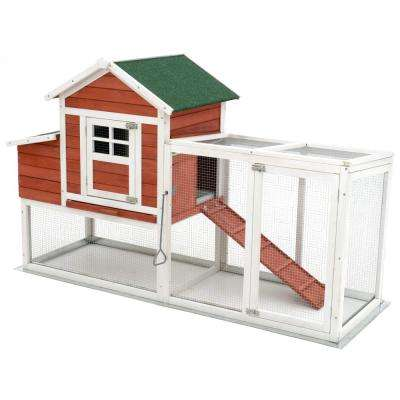 Large 72.5 in. Modular Chicken Coop and Poultry Cage with All wire Sun Yard
