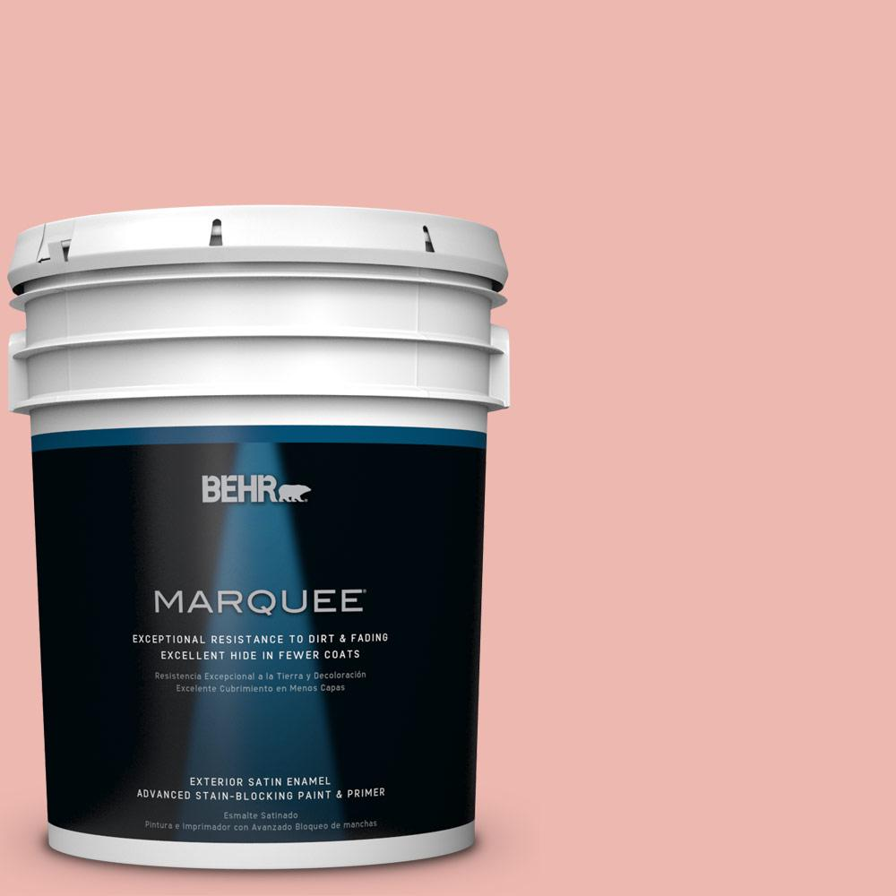 BEHR MARQUEE 5-gal. #M170-3 Carnation Coral Satin Enamel Exterior Paint