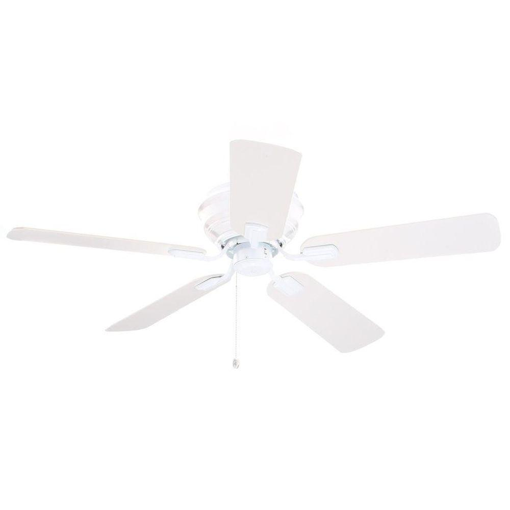 Hampton Bay Hawkins 44 in. White Ceiling Fan