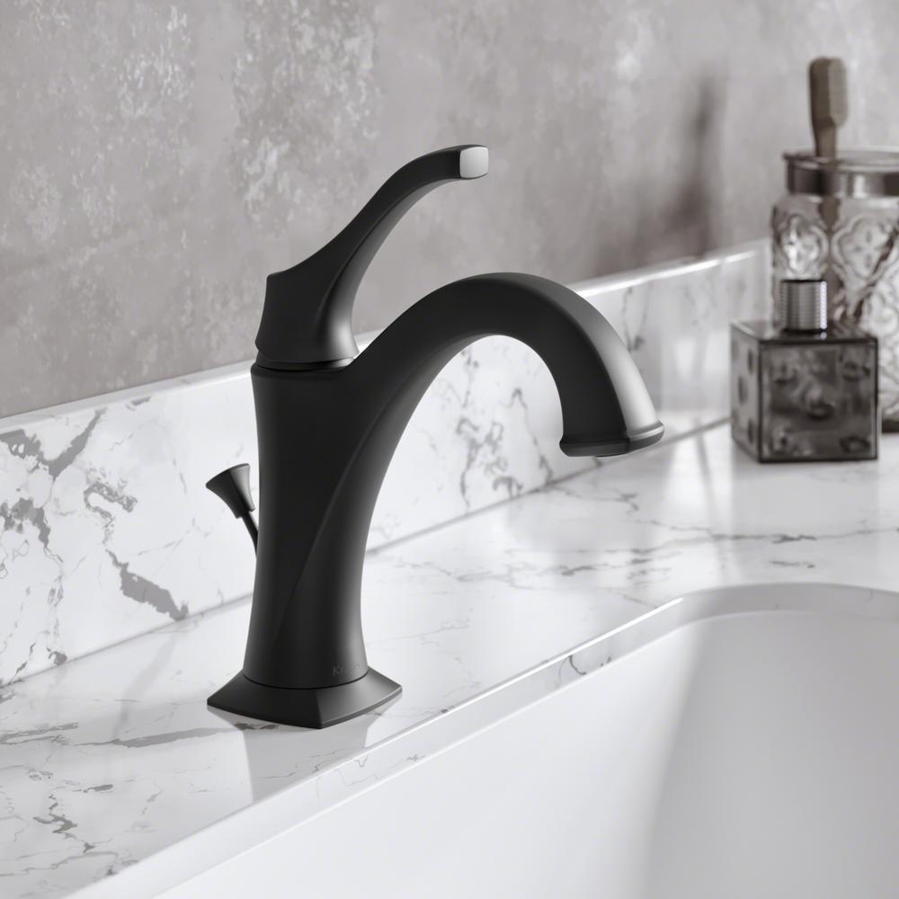 Arlo Single Hole Single Handle Bathroom Faucet in Matte Black