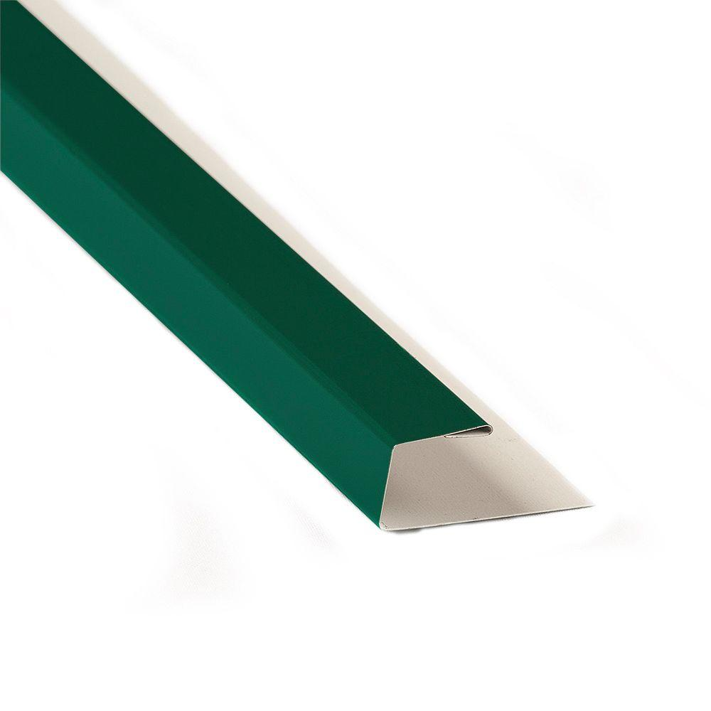 10 ft. 6 in. Forest Green Steel J-Channel Flashing