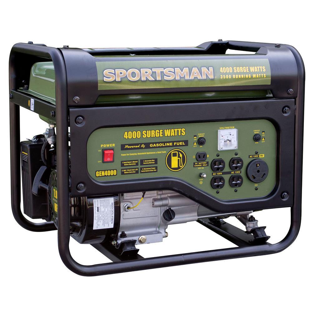 4,000/3,500-watt Dual Fuel Powered Portable Generator, Runs on LPG or Regular Gasoline $279.00