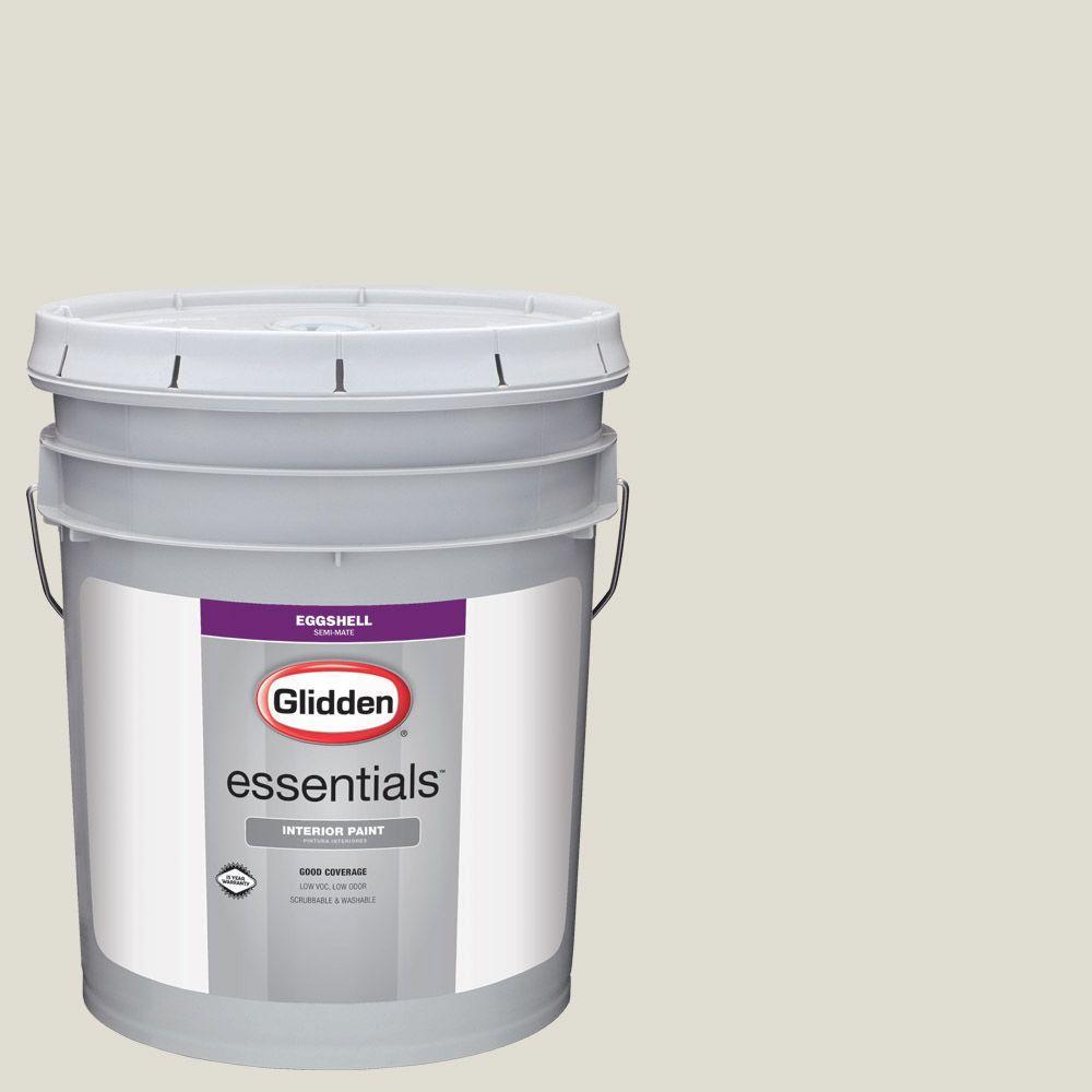 5 gal. #HDGWN56U Light Silver Sage Eggshell Interior Paint