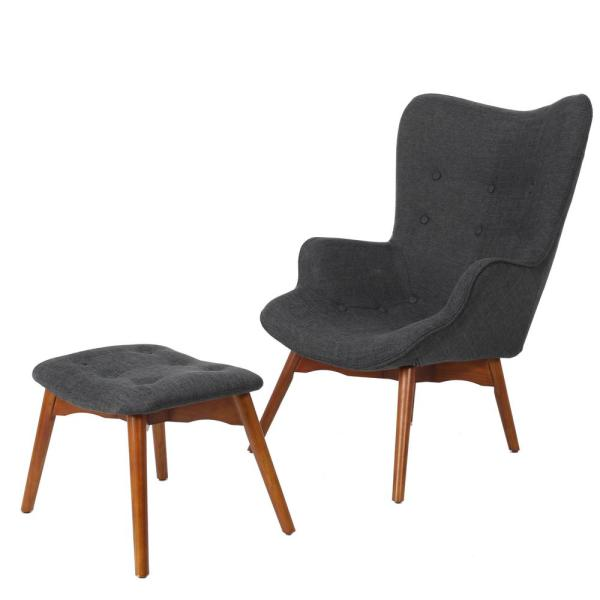 Outstanding Noble House Hariata Muted Dark Grey Fabric Contour Chair And Creativecarmelina Interior Chair Design Creativecarmelinacom
