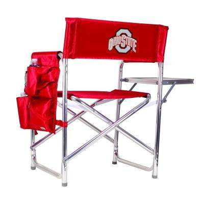 Ohio State University Red Sports Chair with Embroidered Logo
