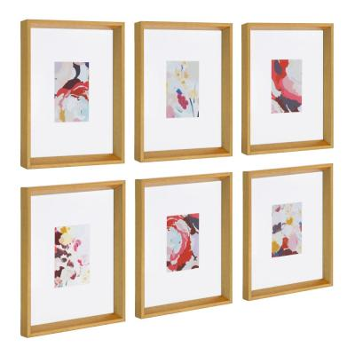 """Calter """"Floral"""" Framed Print Wall Art Set 12.5 in. x 15.5 in."""