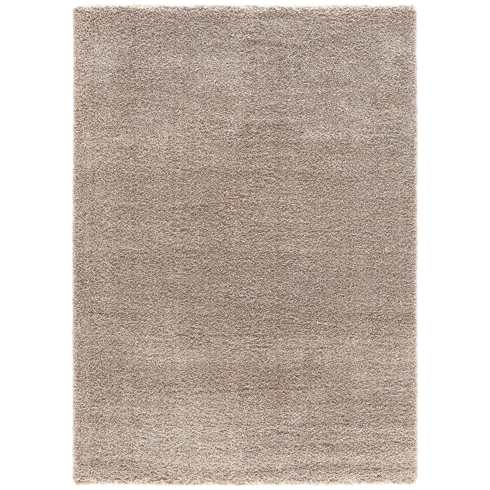 Concord Global Trading Plush Solid Beige 3 Ft. X 5 Ft