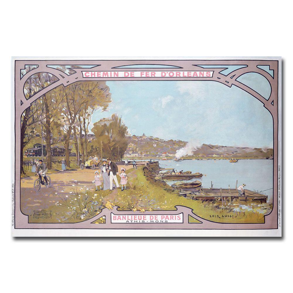 22 in. x 32 in. Chemins de Fer Dorleans 1910 Canvas