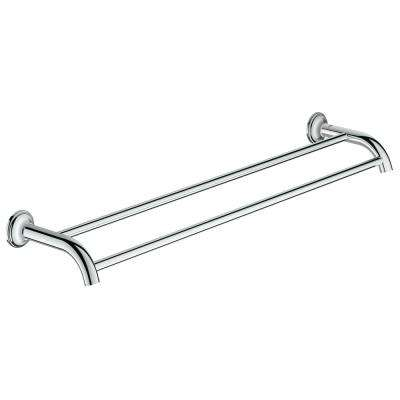 Essentials Authentic 24 in. Double Towel Bar in StarLight Chrome