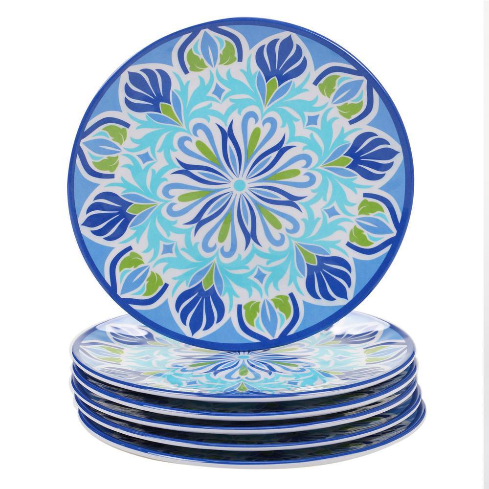 Set of 4 Multicolor 8.5 13921SET//4 Certified International Umbria Salad//Dessert Plates 8.5