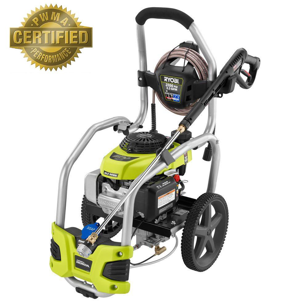 Ryobi 3,100-PSI 2.5-GPM Honda Gas Pressure Washer with Idle Down