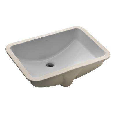 "Ladena 20 7/8"" Undermount Bathroom Sink in Ice Grey with Overflow Drain"
