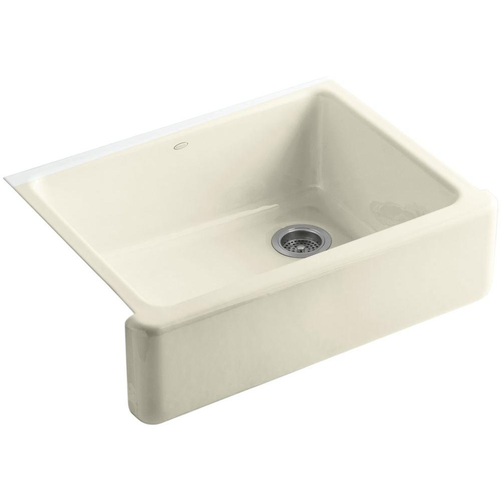 KOHLER Whitehaven Undermount Farmhouse Apron-Front Cast Iron 30 in. Single Bowl Kitchen Sink in Cane Sugar