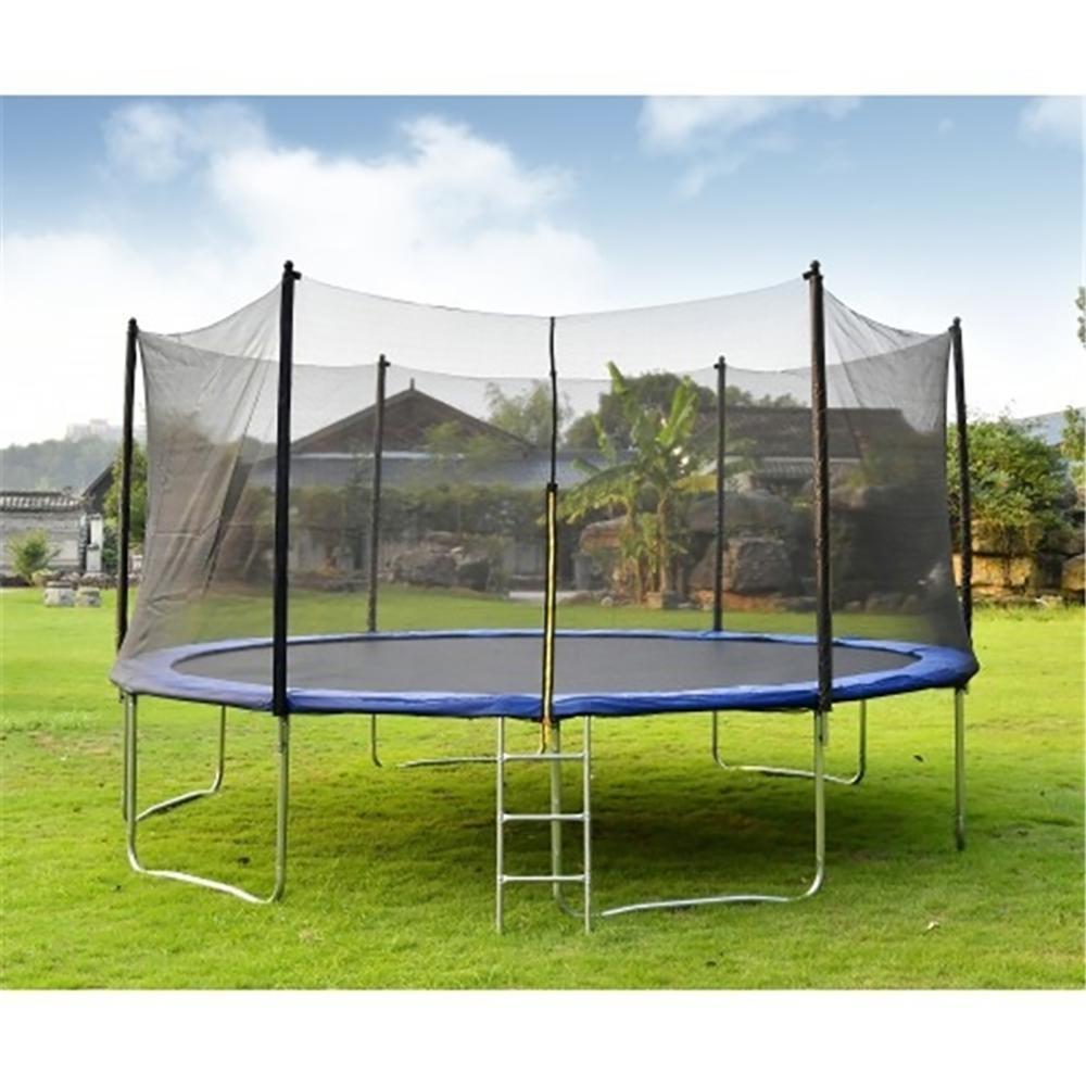 12ft. Trampoline Set Kid Play Jump Garden Trampoline Set Net Head Cover Outdoor