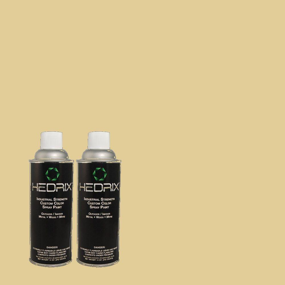 Hedrix 11 oz. Match of 380F-4 Ground Ginger Low Lustre Custom Spray Paint (2-Pack)