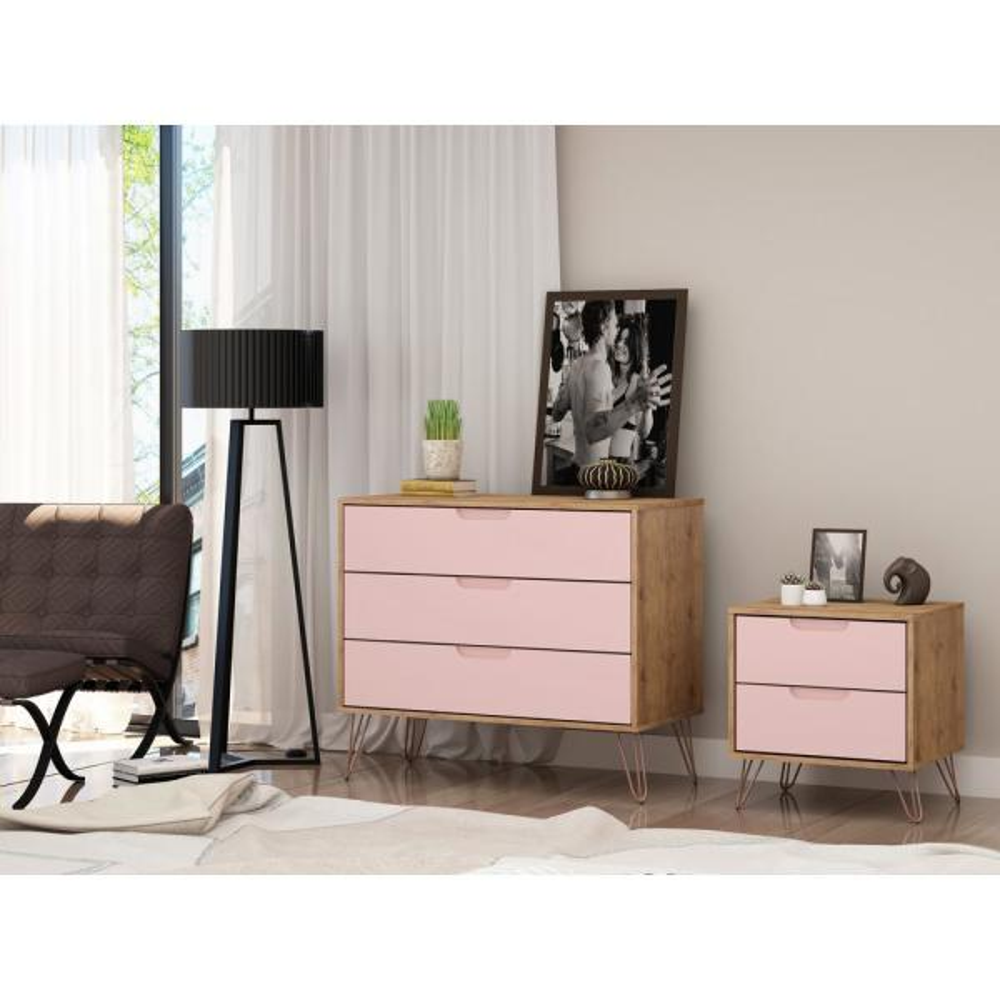 Rose Pink Mid Century Modern