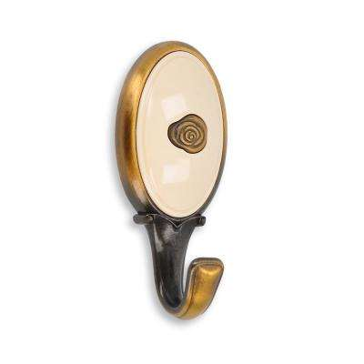 Roslin 3.05 in. Center-to-Center 0.95 in. Brushed Antique Brass Wall Mounted Wall Hook