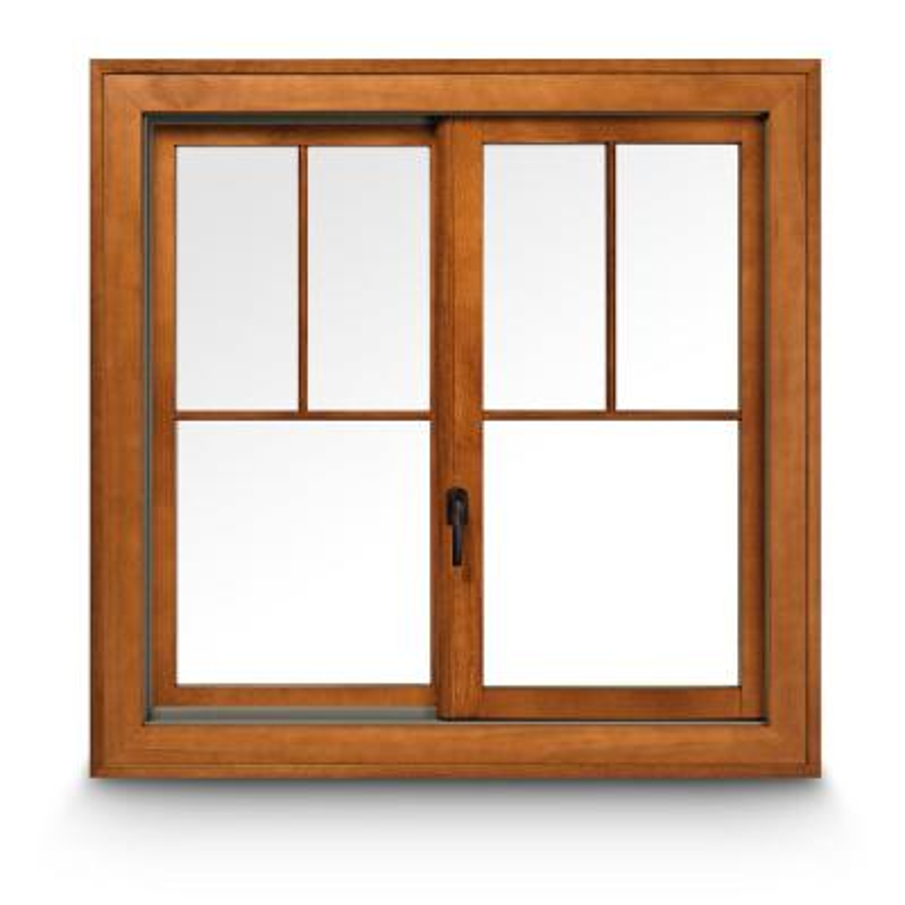 Installed Wood Gliding Windows