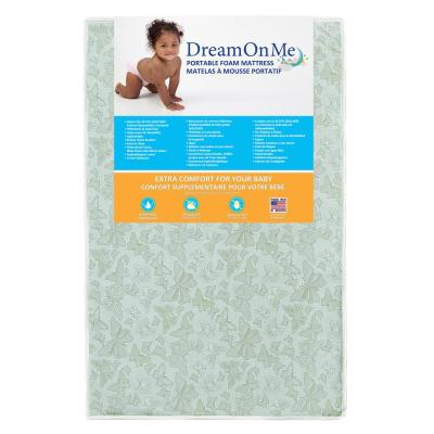 3 2-Sided, Portable Mini Crib Foam Mattress