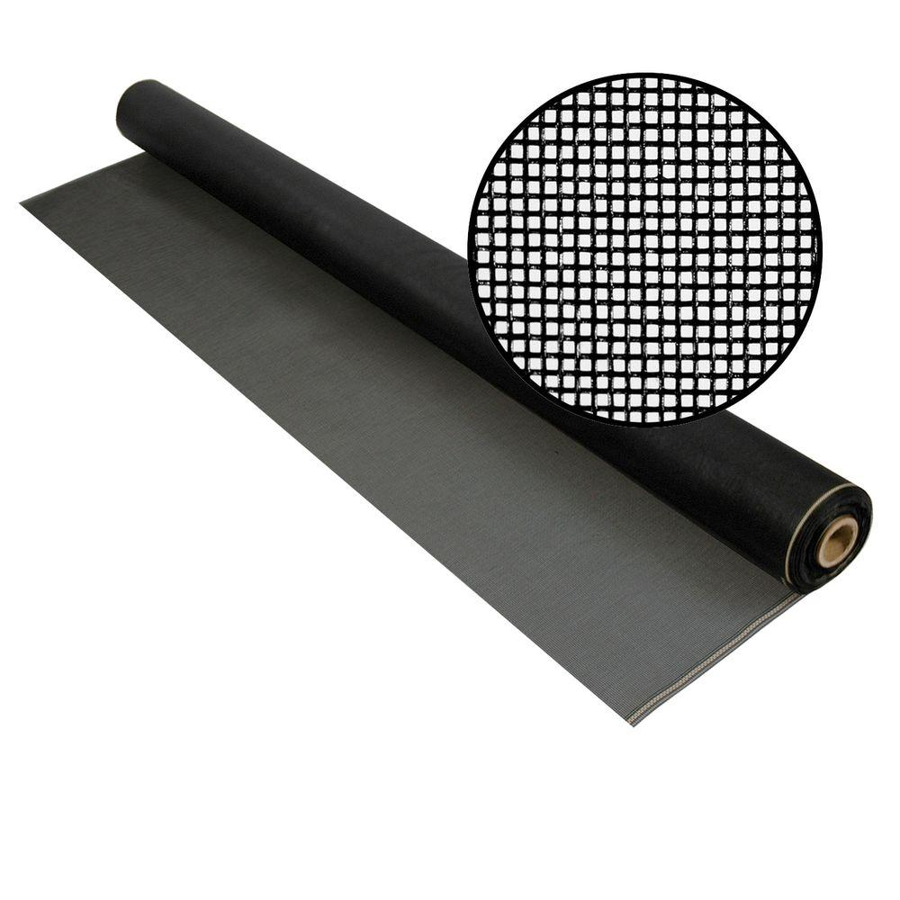 Phifer 96 in. x 100 ft. Charcoal Fiberglass Screen 20 in. x 20 in. Mesh