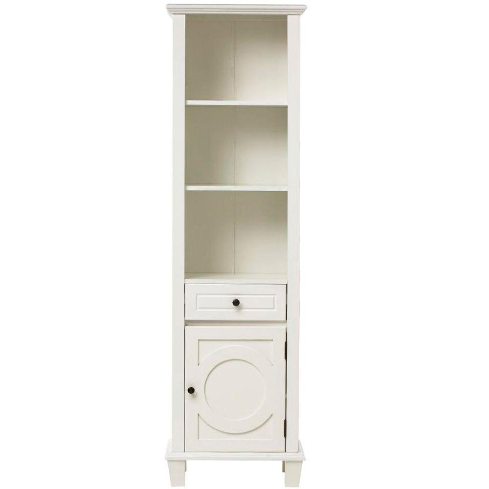 Home Decorators Collection Hudson 67.5 in. W Linen Cabinet in White