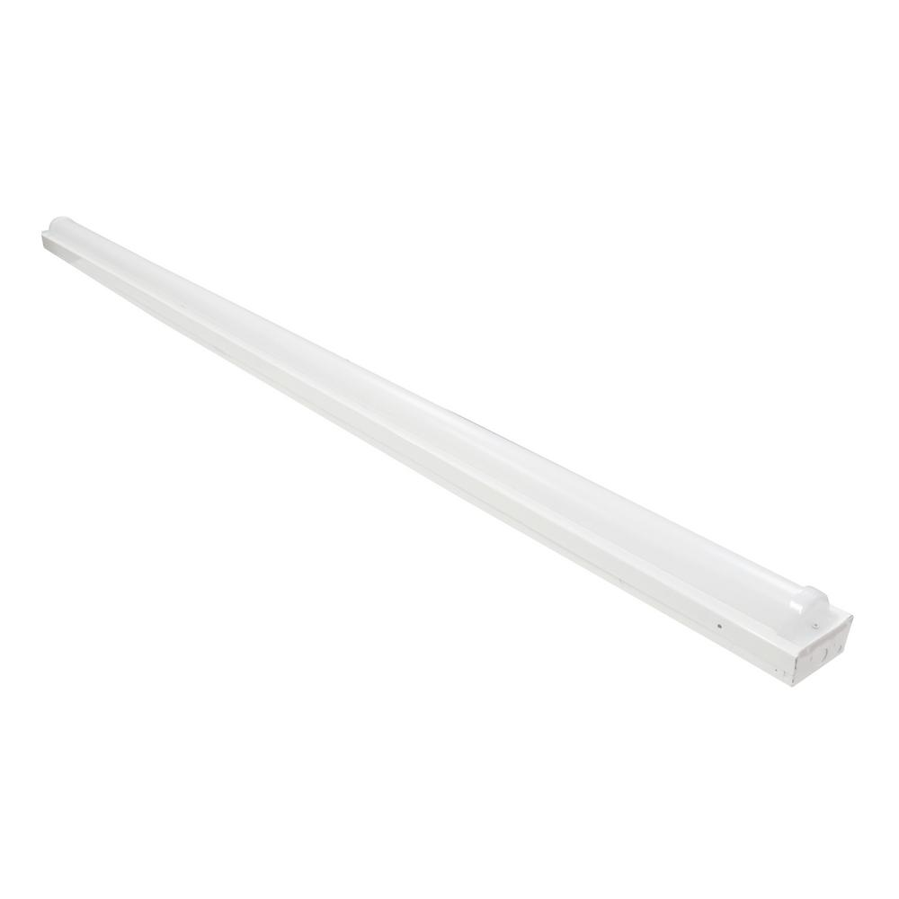 LS1- 8 ft. 675-Watt White Integrated LED Linear Strip Light in