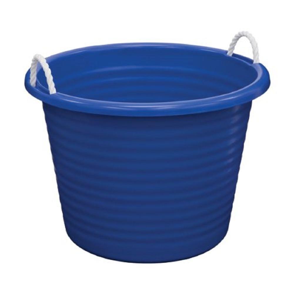 17 Gal. Rope Handle Tub in Blue