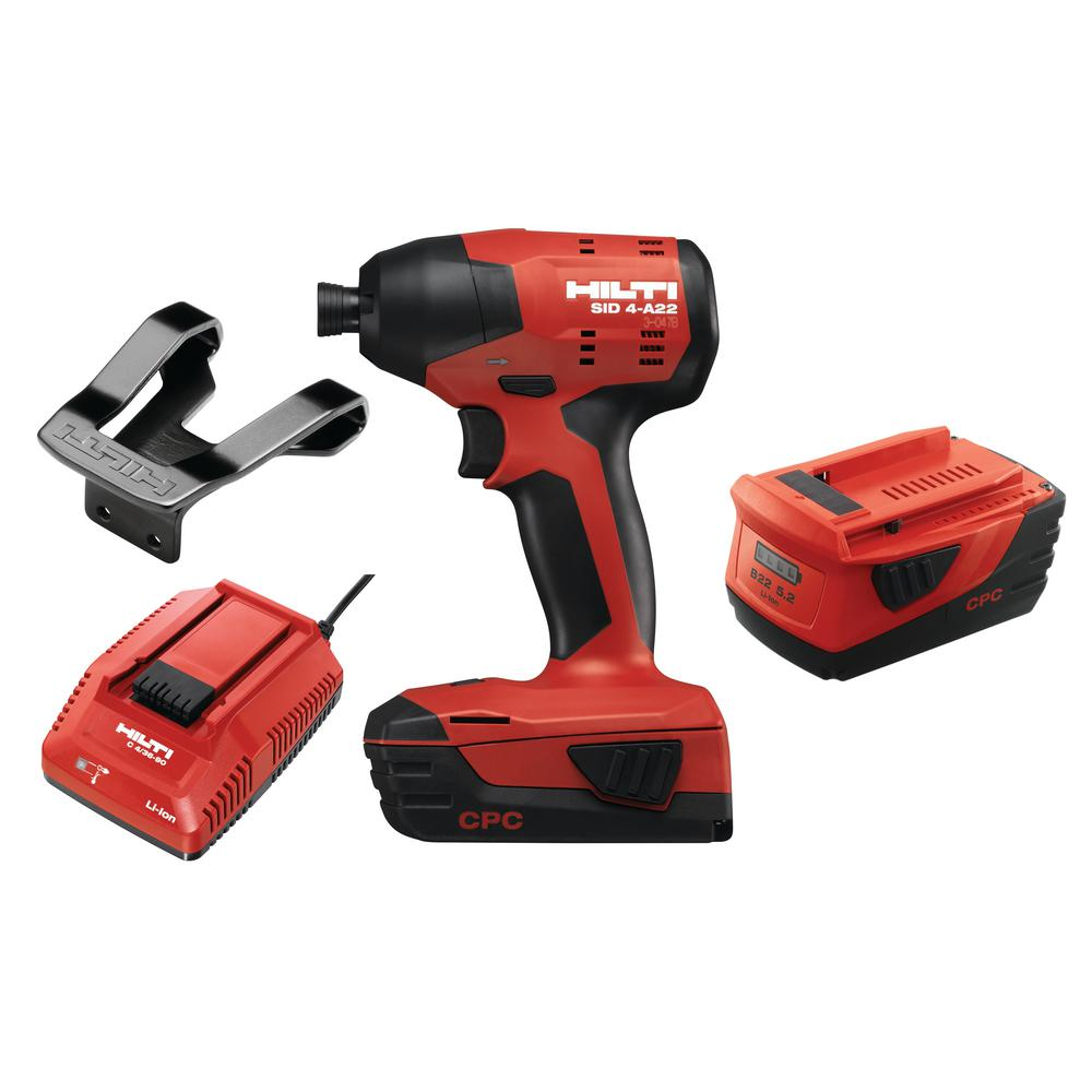 22-Volt Lithium-Ion 1/4 in. Hex Cordless Brushless SID 4 Impact Driver
