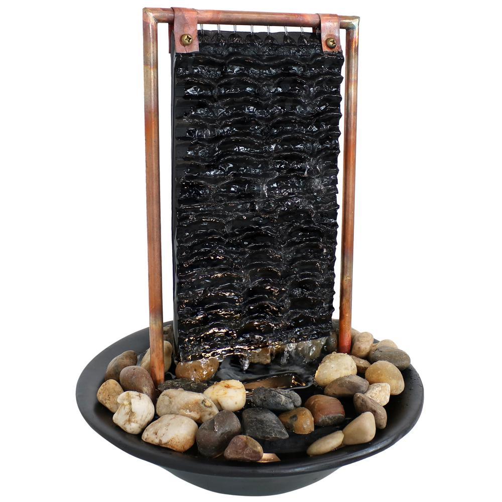 16 in. Billowing Slate Tabletop Water Fountain