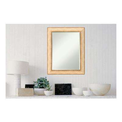 Highland Park Cream Wood 23 in. x 29 in. Casual Framed Decorative Wall Mirror