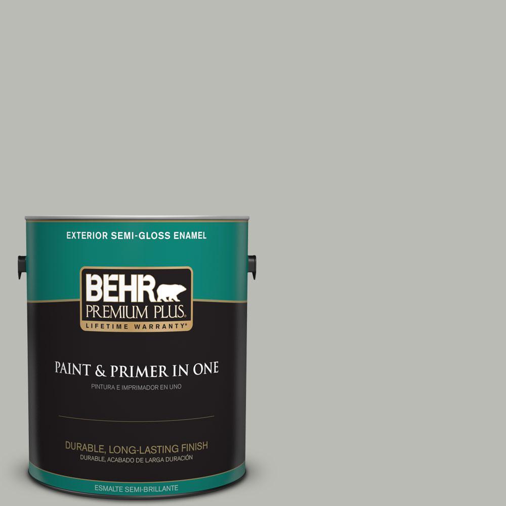 1-gal. #N380-3 Weathered Moss Semi-Gloss Enamel Exterior Paint