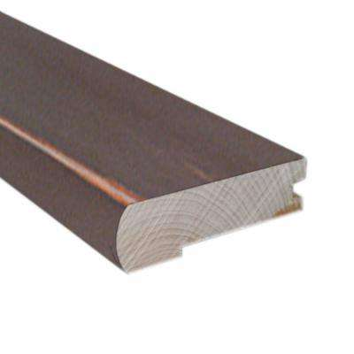 Smoky Mineral/Flax/Natural Fossil 0.81 in. x 2.37 in. Wide x 78 in. Length Hardwood Flush-Mount Stair Nose Molding