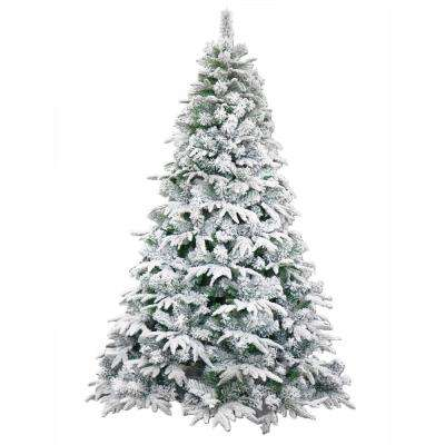 8 ft. Unlit Flocked Artificial Christmas Tree