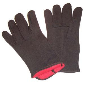 G & F Large Brown Jersey Gloves with Red Fleece Lined Winter Gloves (144-Case) by Winter Gloves