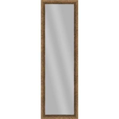 Large Rectangle Dark Champagne Art Deco Mirror (51.875 in. H x 15.875 in. W)
