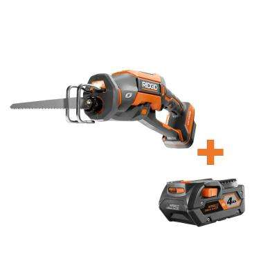 18-Volt OCTANE Cordless Brushless One-Handed Reciprocating Saw with 4.0 Ah Lithium-Ion Battery