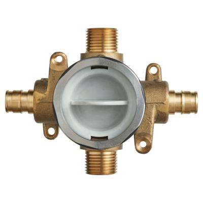 Flash Shower Rough-In Valve with PEX Inlets/Universal Outlets for Cold Expansion System