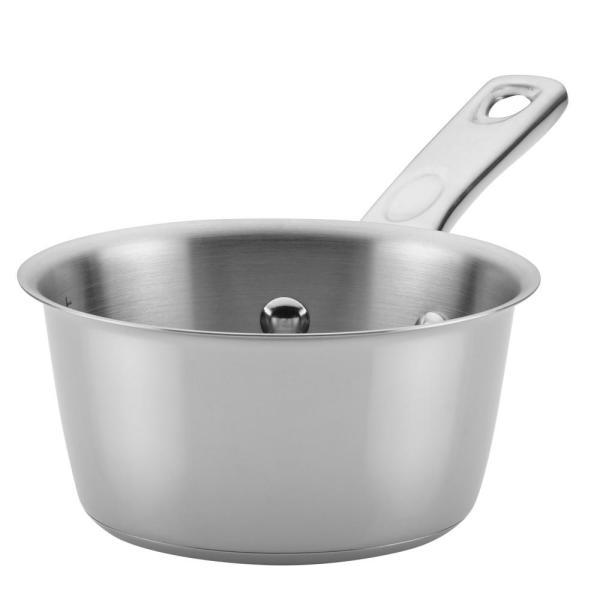 Ayesha Curry Home Collection 1 Qt. Stainless Steel Saucepan 70202