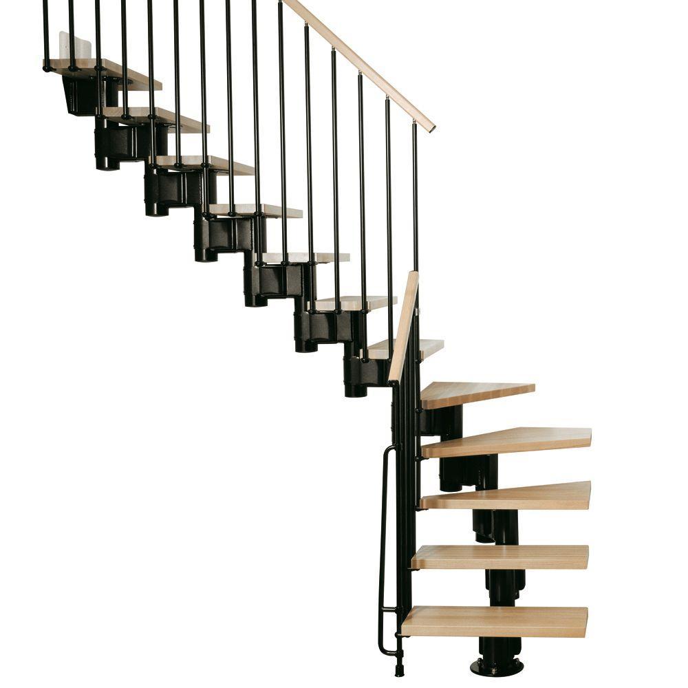 Arke Kompact 35 In Black Modular Staircase L Kit