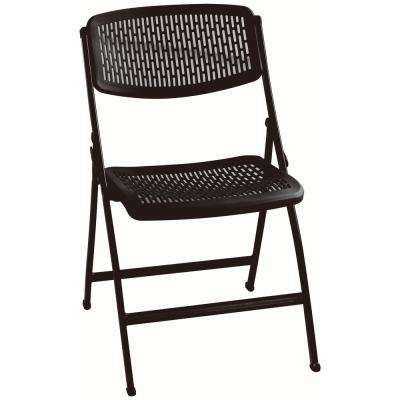 Black Plastic Seat Outdoor Safe Folding Chair