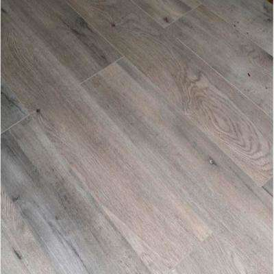 Brown Ash Oak 12 mm Thick x 5.71 in. Wide x 48 in. Length Click-Locking Laminate Flooring Planks (13.27 sq. ft. / case)