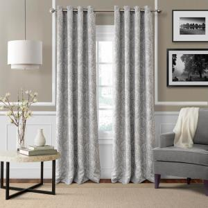 Click here to buy  Blackout Julianne Gray Blackout Window Curtain Panel - 52 inch W x 84 inch L.