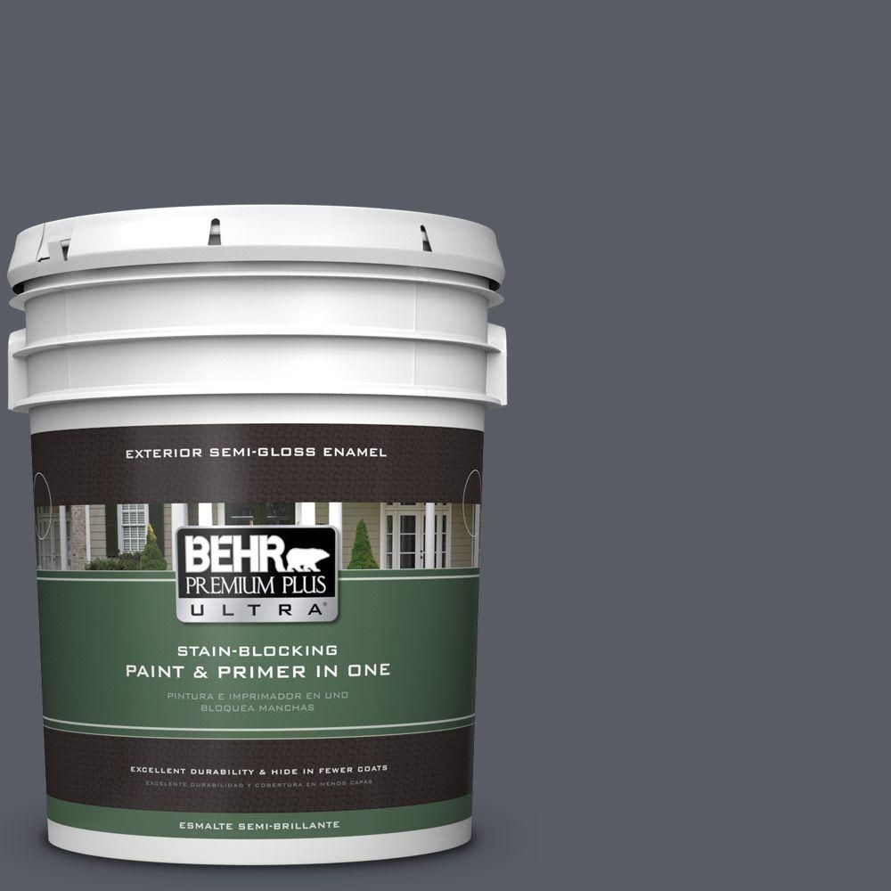 BEHR Premium Plus Ultra 5-gal. #760F-6 Distant Thunder Semi-Gloss Enamel Exterior Paint