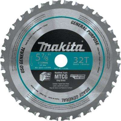 5-7/8 in. 32-Teeth Metal General Purpose Carbide-Tipped Saw Blade