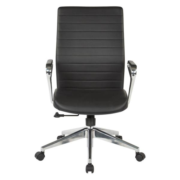 Office Star Products Black Bonded Leather Manager's Chair 518317HA-EC3