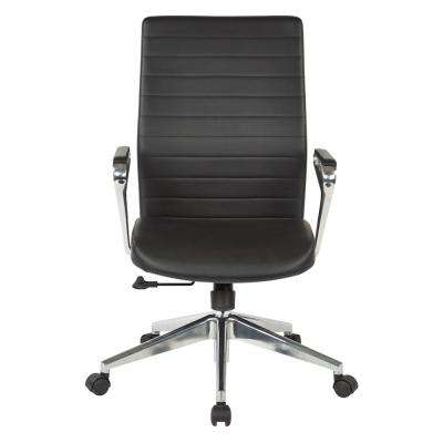 Black Bonded Leather Manager's Chair