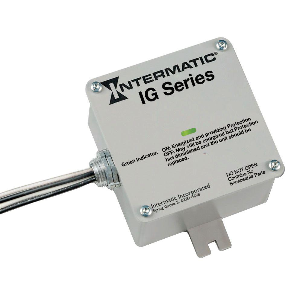 intermatic ig series type 1 or type 2 surge protective device - white