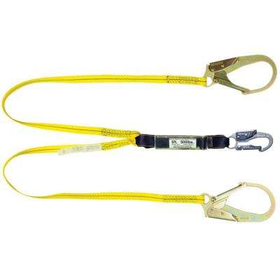 4 ft. Double Leg Shock Absorbing Lanyard with Rebar Hook end